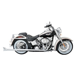 Python Fishtail Dual Exhaust For Harley Softail 2012-2017