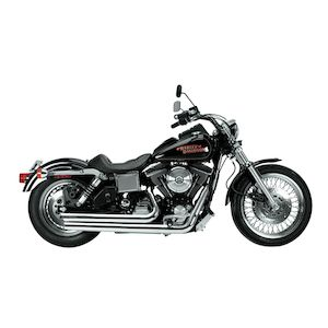Python Staggered Duals Exhaust For Harley Dyna 1991-2005