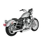 "Python Mamba 3"" Slip-On Mufflers For Harley Sportster 2004-2013"