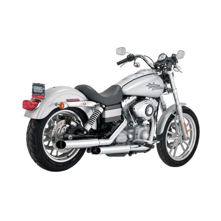 "Python Mamba 3"" Slip-On Mufflers For Harley Dyna 2008-2017"