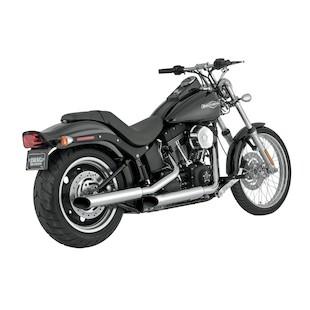 """Python Mamba 3"""" Slip-On Mufflers For Harley Softail 2007-2017"""