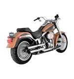 "Python Slash-Cut 2 1/2"" Slip-On Mufflers For Harley Softail Fat Boy 2007-2015"