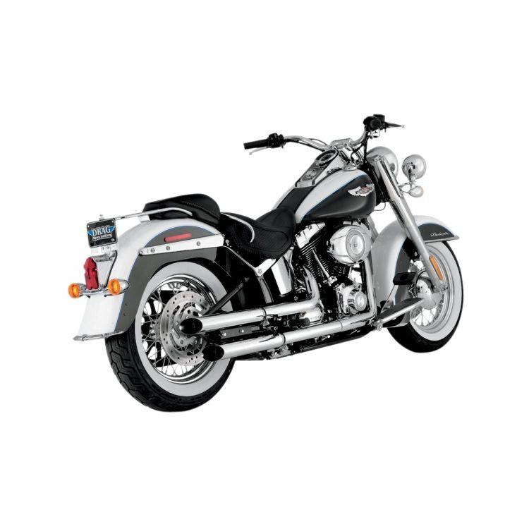 "Python Slash-Cut 2 1/2"" Slip-On Mufflers For Harley Softail 2007-2017"