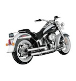 "Python Slash-Cut 2 1/2"" Slip-On Mufflers For Harley Softail 2007-2015"