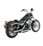 "Python Slash-Cut 2 1/2"" Slip-On Mufflers For Harley"