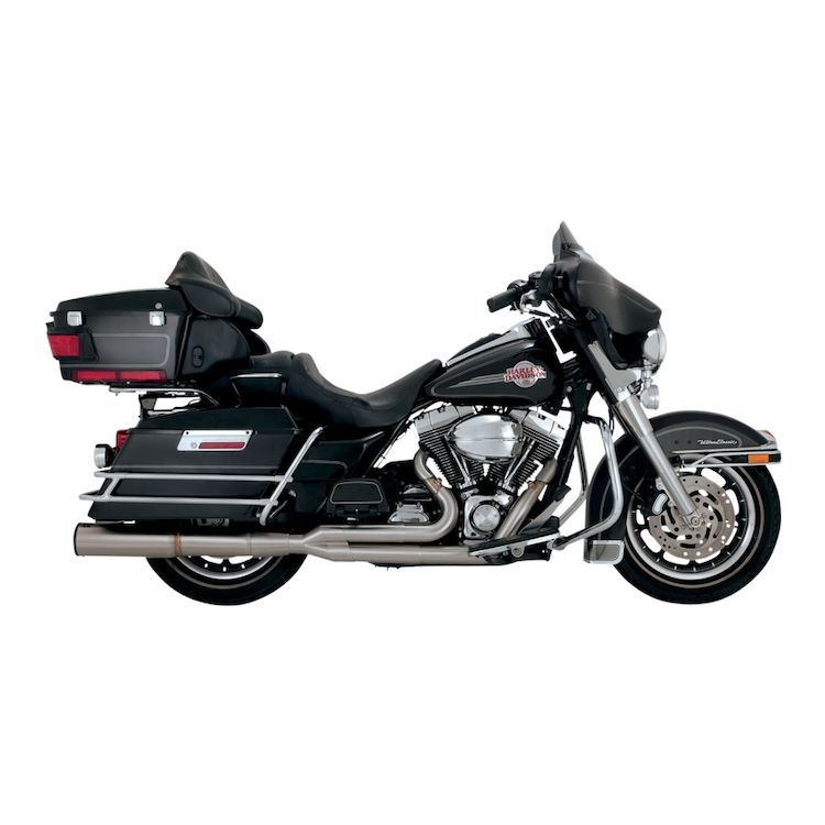 Vance & Hines Stainless Hi-Output 2-Into-1 Exhaust For Harley Touring 1999-2008