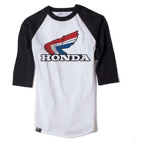 Factory Effex Honda Vintage Baseball T-Shirt