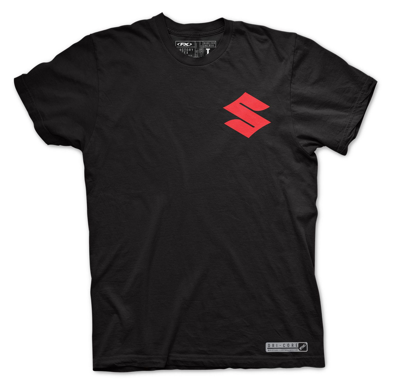 factory effex suzuki performance dri core t shirt revzilla. Black Bedroom Furniture Sets. Home Design Ideas