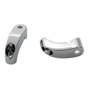 Arlen Ness Front Turn Signal Relocation Mounts For 39mm & 49mm Harley Forks 49mm / Chrome [Open Box]