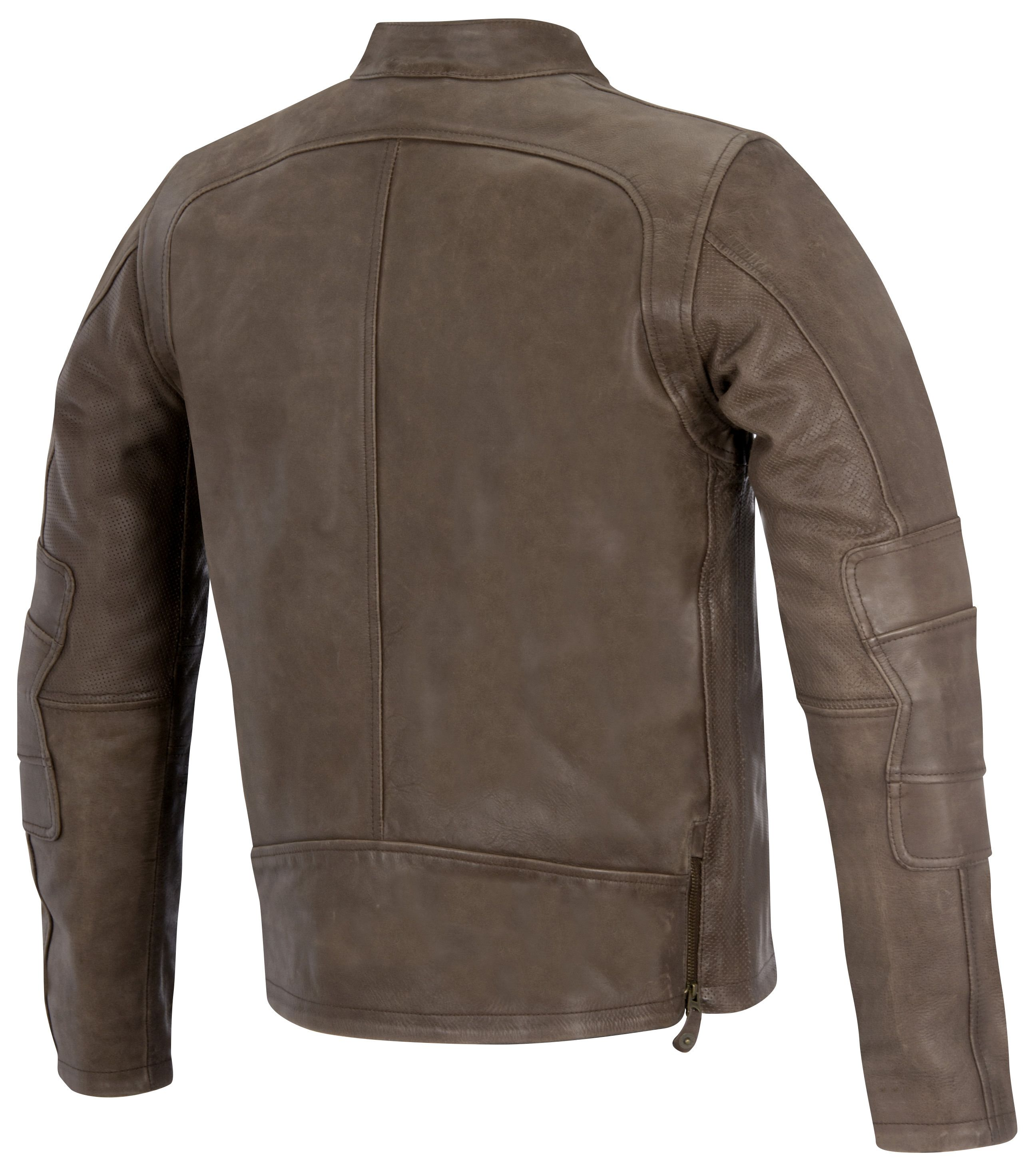 Clothing, Shoes & Accessories Brown Washed Leather Jacket With Buttons And Lacing Detail Size S To Ensure Smooth Transmission
