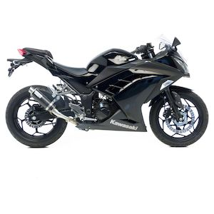 LeoVince GP Corsa Slip On Exhaust Kawasaki Ninja 300 2013 2017