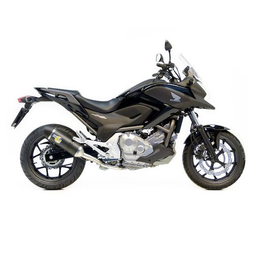 leovince lv one evo ii slip on exhaust honda nc700x 2012. Black Bedroom Furniture Sets. Home Design Ideas