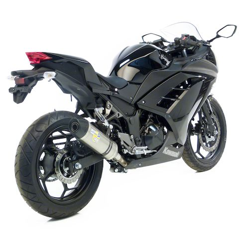 leovince lv one evo ii slip on exhaust kawasaki ninja 300. Black Bedroom Furniture Sets. Home Design Ideas