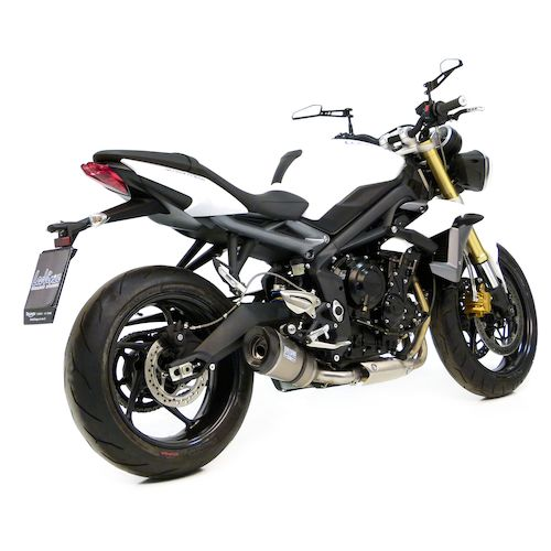 leovince factory r evo ii slip on exhaust triumph street triple r 2013 2017 revzilla. Black Bedroom Furniture Sets. Home Design Ideas