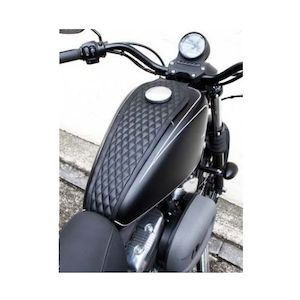 West Eagle Diamond Stitch Tank Cover For Harley Sportster With 3.3 Gallon Tank 2004-2019