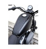 West Eagle Diamond Stitch Tank Cover For Harley Sportster With 3.3 Gallon Tank 2004-2017
