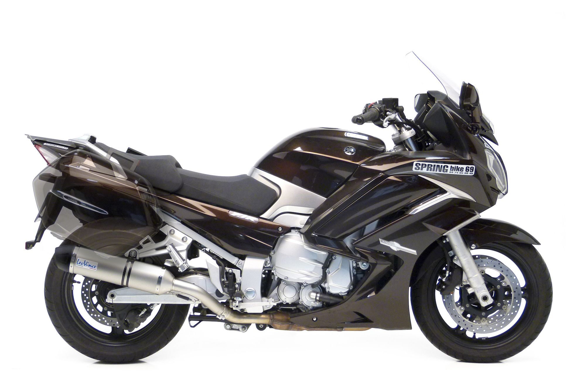 Leo Vince Lv One Evoii Slip On Exhaust Yamaha Fjr Stainless Steel on Leo Vince Exhaust Motorcycle From Leovince Revzilla