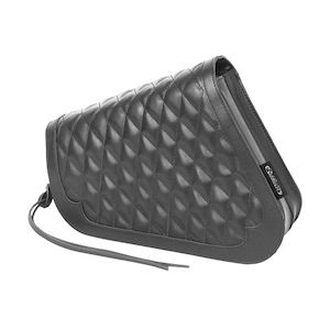 West Eagle Diamond Stitch Side Bag For Harley Sportster 2004-2019