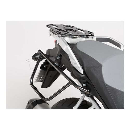 sw-motech dakar waterproof soft saddlebags and mounts suzuki v