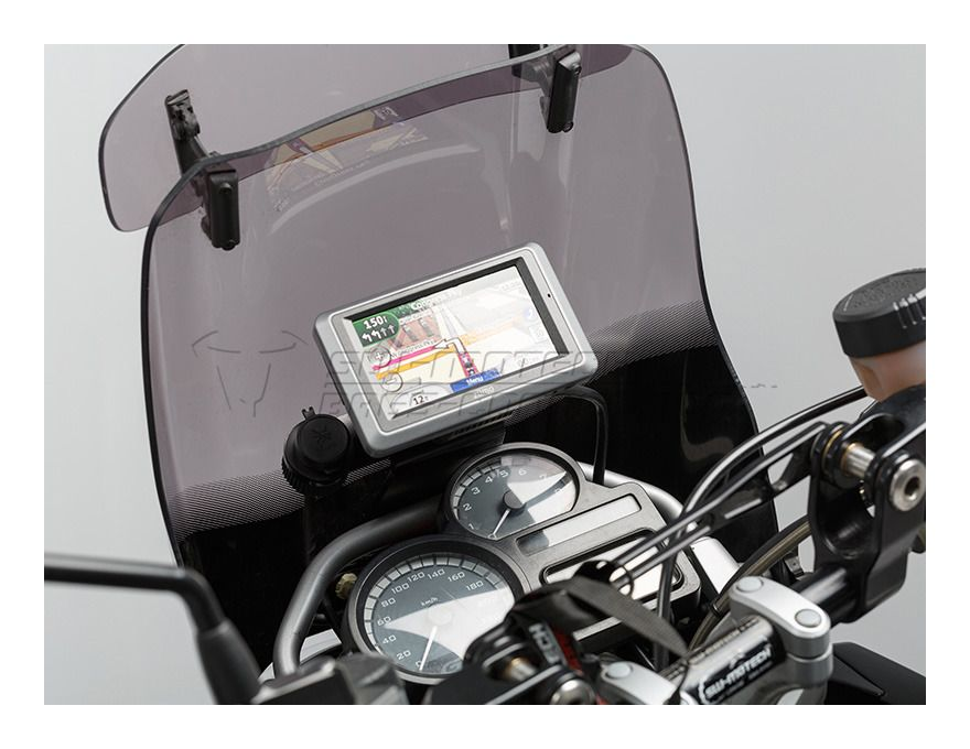 sw motech quick release gps mount bmw r1200gs 2008 2012. Black Bedroom Furniture Sets. Home Design Ideas