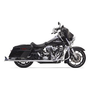 Bassani Fishtail Slip-On Mufflers For Harley Touring 1995-2016
