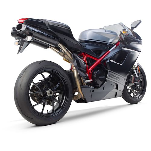 two brothers m2 black series slip-on exhaust ducati 848 / 1098