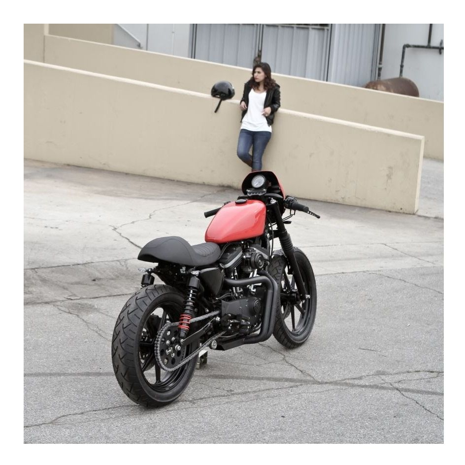 Burly Cafe Solo Seat Tail Section For Harley Sportster 2010-2019 ...