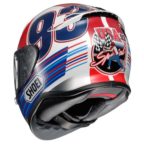 shoei rf 1200 indy marquez helmet revzilla. Black Bedroom Furniture Sets. Home Design Ideas