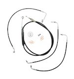 LA Choppers Handlebar Cable And Brake Line Kit For Harley Street Glide 2014-2015