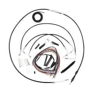 LA Choppers Handlebar Cable Brake Line And Wire Kit For Harley Road King 2014-2016
