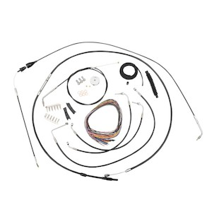 LA Choppers Handlebar Cable Brake Line And Wire Kit For Harley Touring 1996-2006