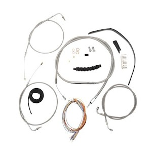LA Choppers Handlebar Cable Brake Line And Wire Kit For Harley Softail 2000-2006