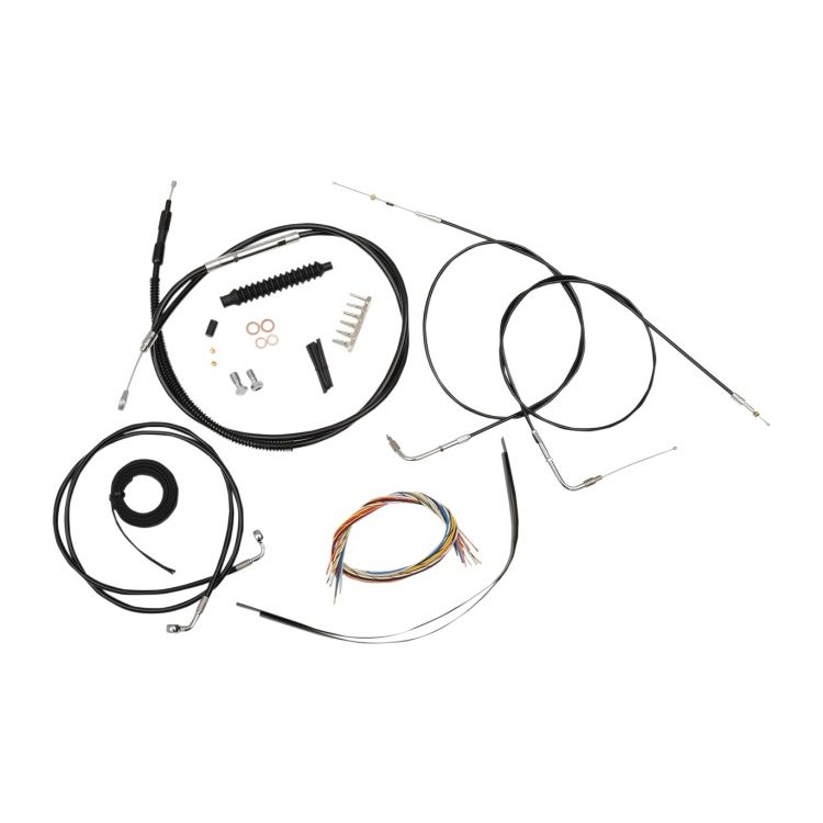 la choppers handlebar cable brake line and wire kit for. Black Bedroom Furniture Sets. Home Design Ideas