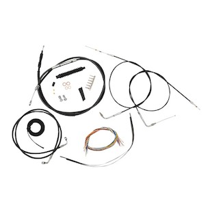 LA Choppers Handlebar Cable Brake Line And Wire Kit For Harley Dyna Wide Glide / Switchback 2012-2017