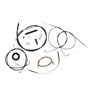 LA Choppers Handlebar Cable Brake Line And Wire Kit For Harley Dyna 2007-2011