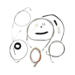Burly Handlebar Cable Installation Kit For Harley Dyna 2007-2011