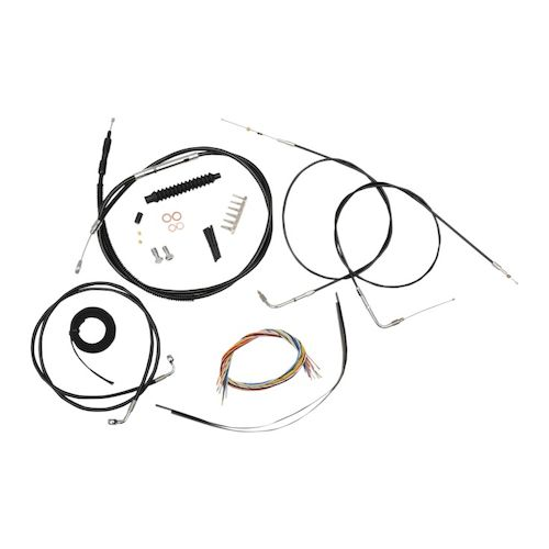 la choppers handlebar cable brake line and wire kit for harley sportster 2007-2013