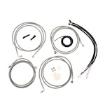 LA Choppers Handlebar Cable Brake Line And Wire Kit For Harley w/ABS