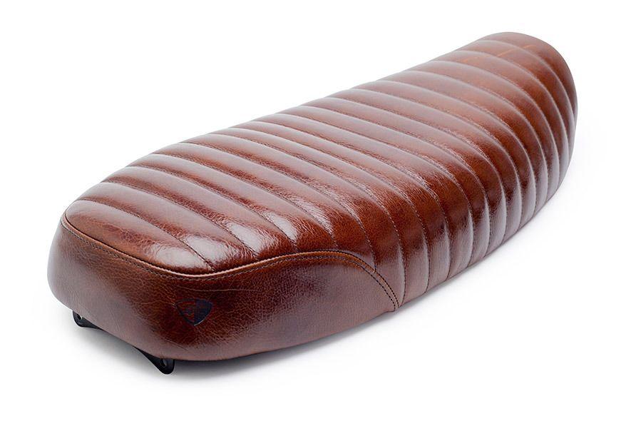 British customs tuck n roll leather slammer seat triumph bonneville