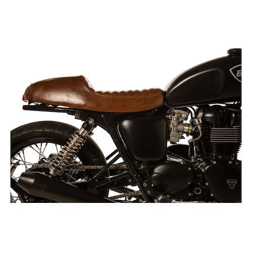 British Customs Leather Cafe Seat Triumph Bonneville / SE