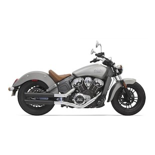 """Bassani 3"""" Slip On Mufflers For Indian Scout 2015-2016"""