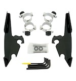 Memphis Shades Fats / Slim / Batwing Trigger-Lock Mount Kit For Harley Sportster Custom 2011-2017