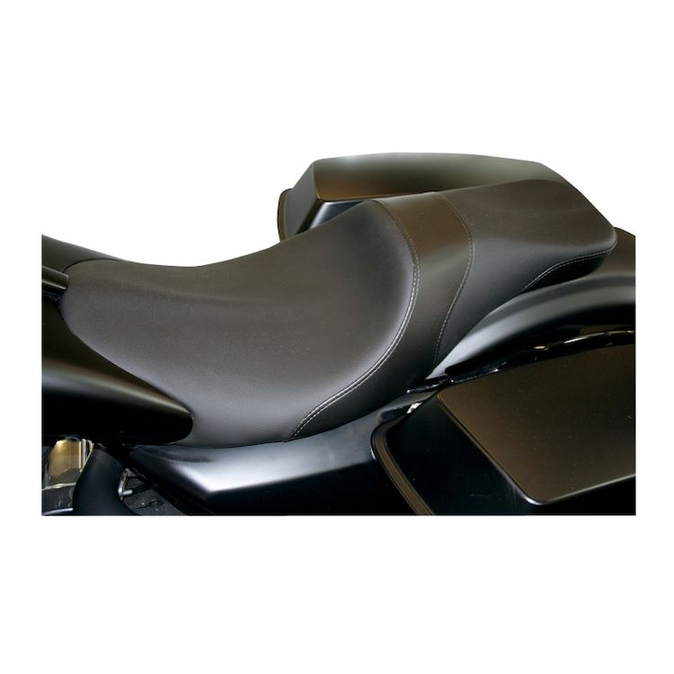 Danny Gray Weekday 2-Up Seat For Paul Yaffe Stretched Tank Harley Touring 2008-2018