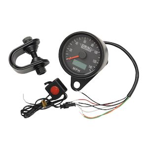 "Drag Specialties 2.4"" Programmable Speedometer For Harley"