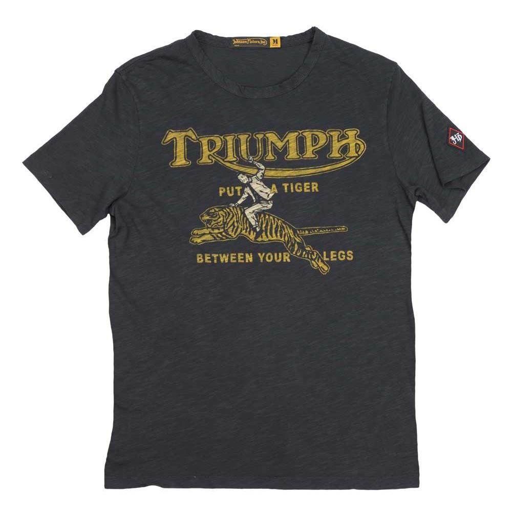 Triumph Johnson Motors Tiger T Shirt Revzilla