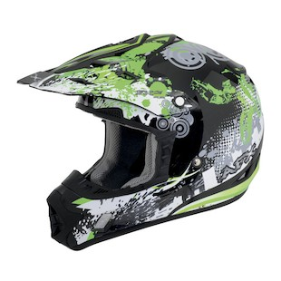 AFX FX-17 Stunt Helmet Green / MD [Blemished - Very Good]