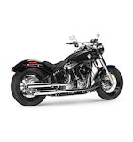 Arlen Ness by MagnaFlow Twin-Wall Back-Cut Slip-On Mufflers For Harley Softail 2007-2017 Chrome [Previously Installed]