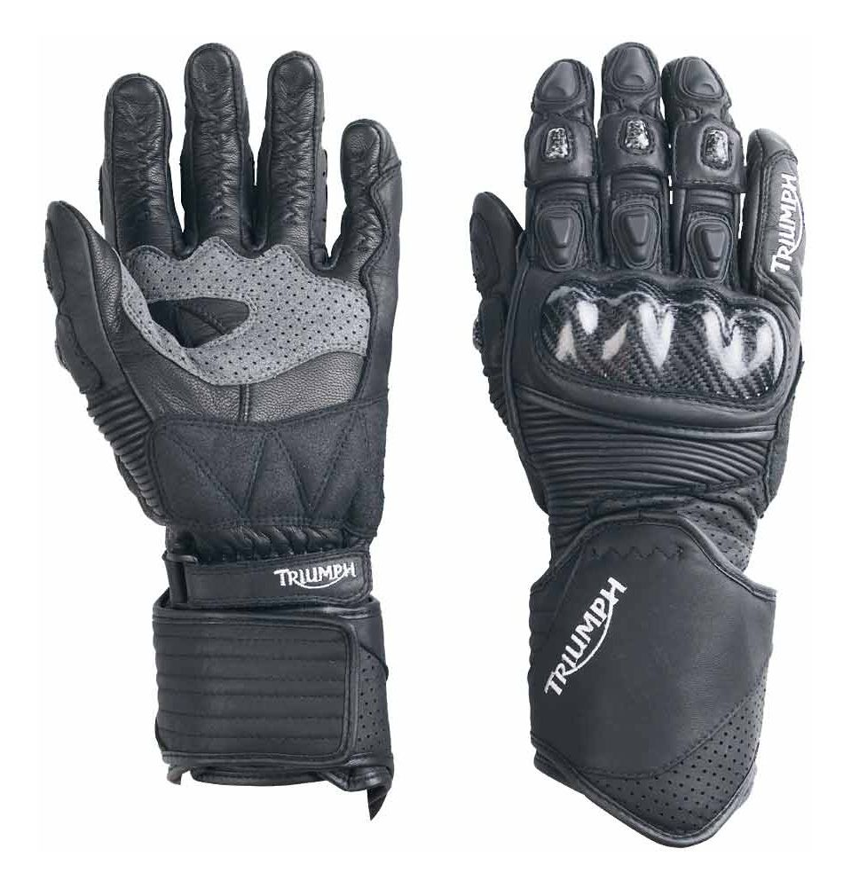 Triumph motorcycle leather gloves - Triumph Motorcycle Leather Gloves 3
