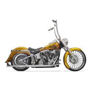 Bassani True Dual Pipes With Long Fishtails For Harley Softail 2007-2017