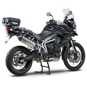 Two Brothers M2 Black Series Slip On Exhaust Triumph Tiger 800 Xc